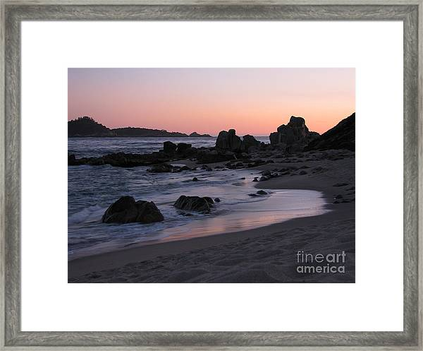 Stewart's Cove At Sunset Framed Print