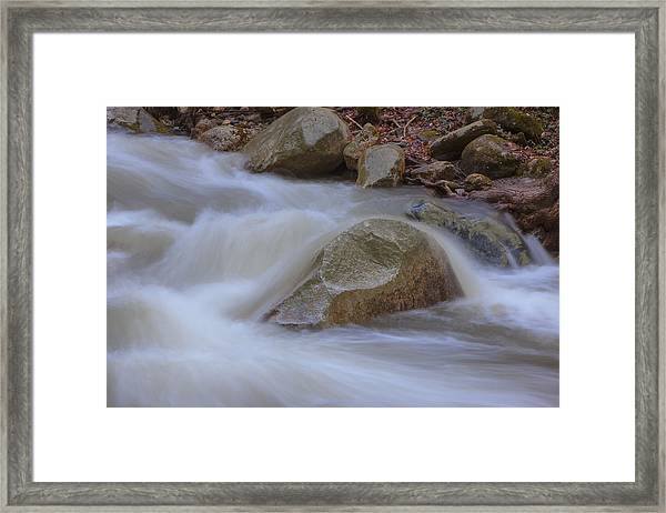 Stickney Brook Rock Framed Print