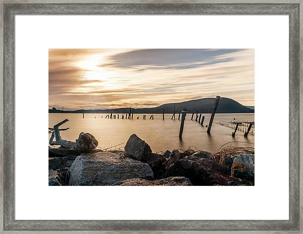 Stick's And Stone's Framed Print