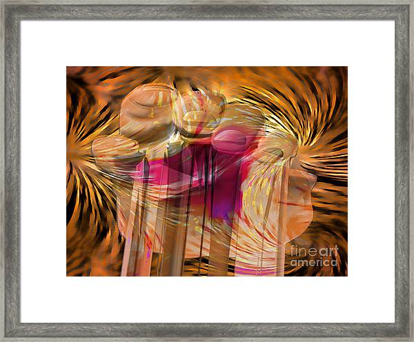 Sticky Hand Framed Print