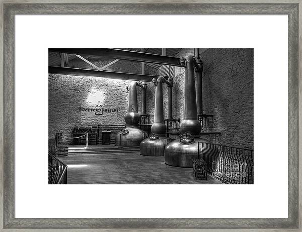 Framed Print featuring the photograph Still In Kentucky Bw by Mel Steinhauer