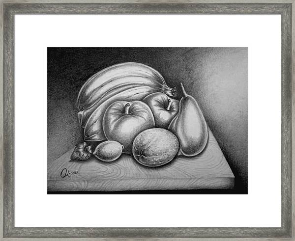 Still Life Fruits Framed Print