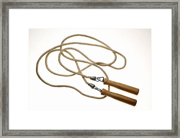 Still Life Of Jump Rope. Framed Print by Thinkstock