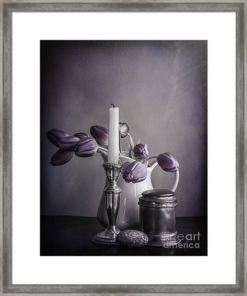 Still Life Study In Purple Framed Print