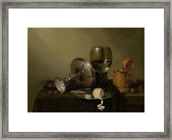 Still Life With A Gilt Cup Framed Print