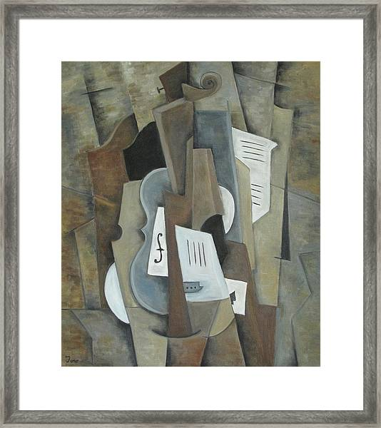 Still Life With Ace Of Spades Framed Print