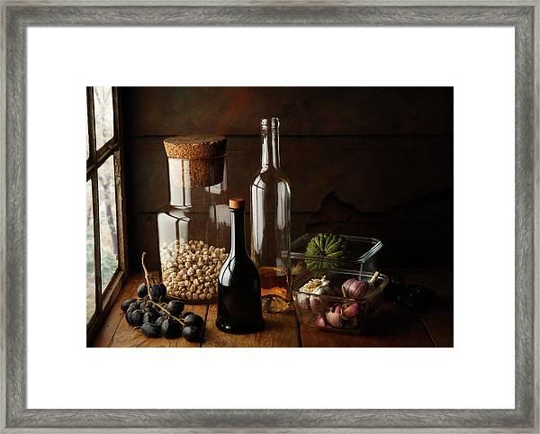 Still Life With Chickpea Framed Print by Luiz Laercio