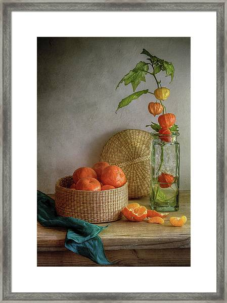 Still Life With Clementines Framed Print by Mandy Disher