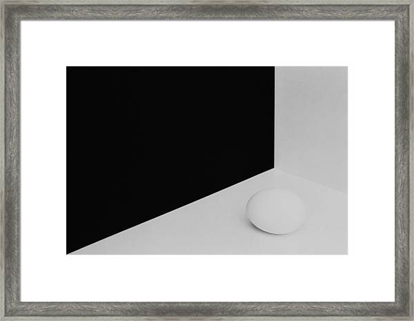 Still Life With Egg 3 Framed Print by Peter Hrabinsky