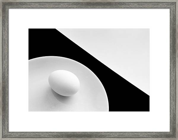 Still Life With Egg Framed Print by Peter Hrabinsky