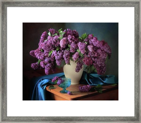 Still Life With Fragrant Lilac Framed Print