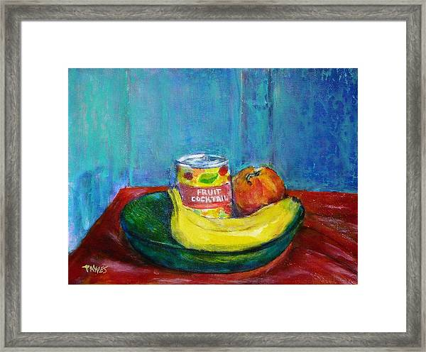 Still Life With Fruit And Humor Framed Print
