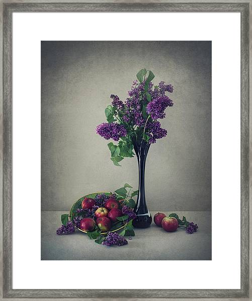 Still Life With Lilac Framed Print