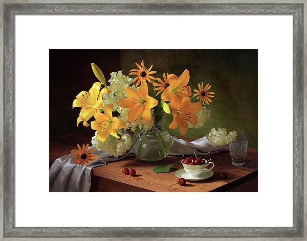 Still Life With Lilies Framed Print