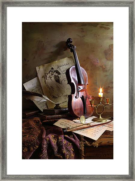 Still Life With Violin Framed Print