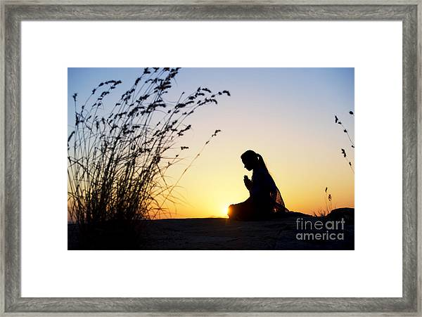 Stillness Of Prayer Framed Print