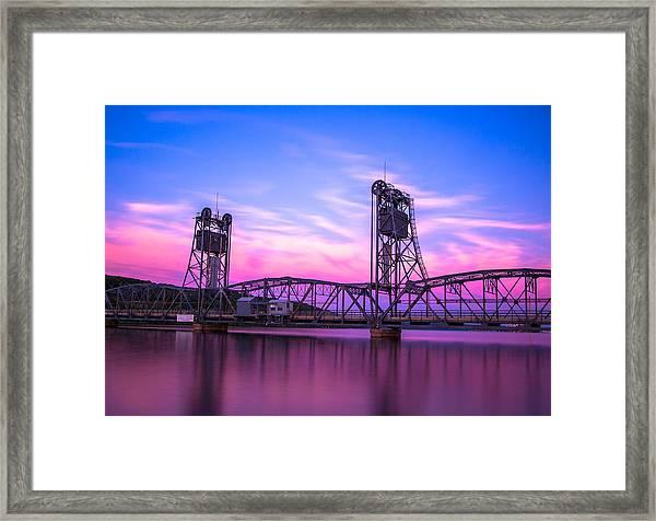 Stillwater Lift Bridge Framed Print