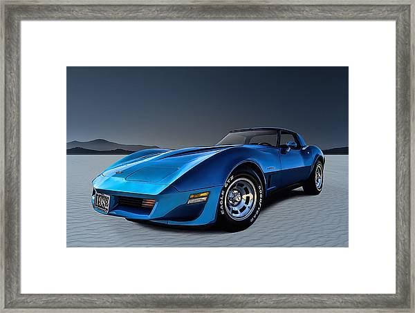 Stingray Blues Framed Print