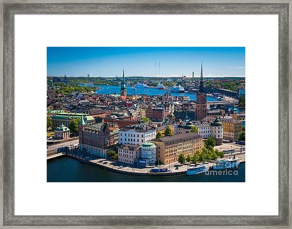 Stockholm From Above Framed Print