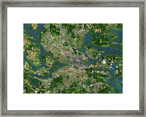 Stockholm Framed Print by Planetobserver/science Photo Library