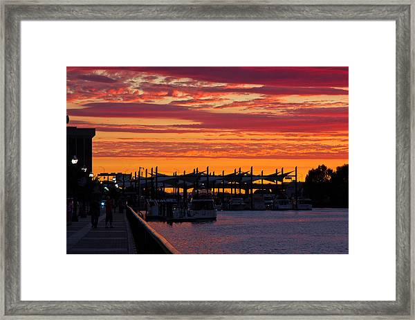 Stockton Sunset Framed Print