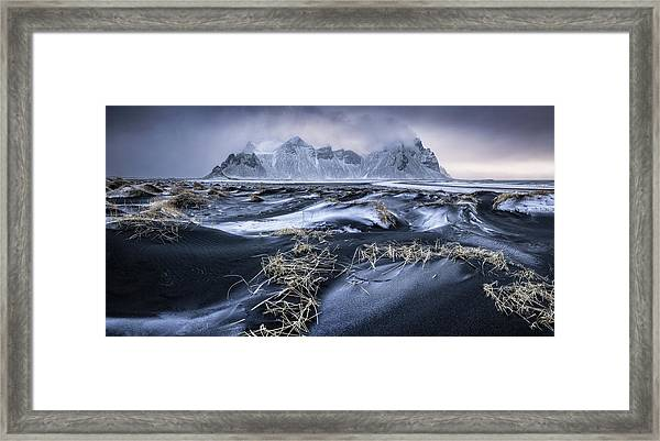 Stokkness Morning Framed Print