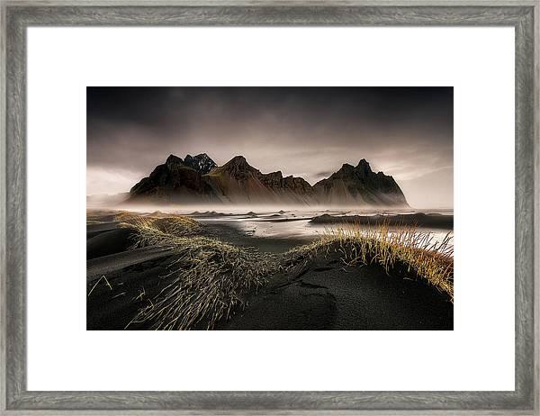 Stokksnes Framed Print by David Mart?n Cast?n