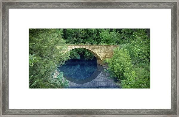 Stone Arch Bridge In Butler County Framed Print