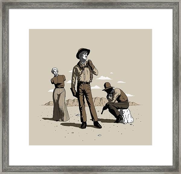 Stone-cold Western Framed Print