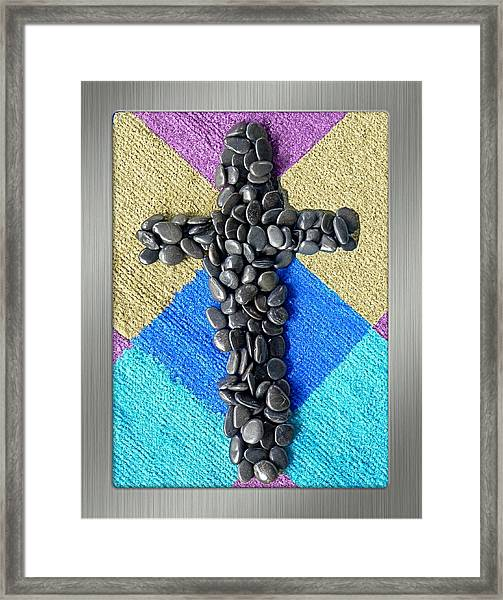Stone Cross Framed Print