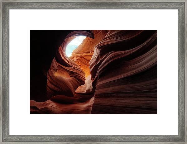 Stone-girl Framed Print by Juan Pablo De