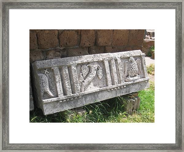 Stone In Tarquinia Framed Print