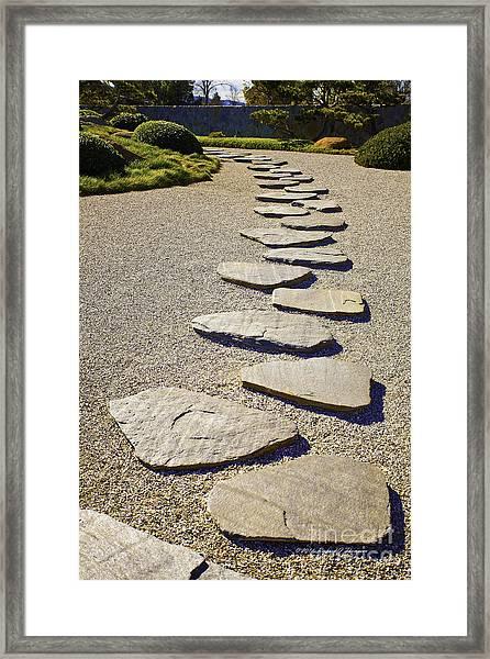 Stone Path Framed Print