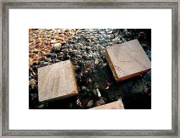 Framed Print featuring the photograph Stone Walking by Yen