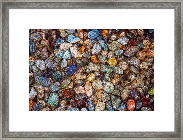 Stoned Stones Framed Print