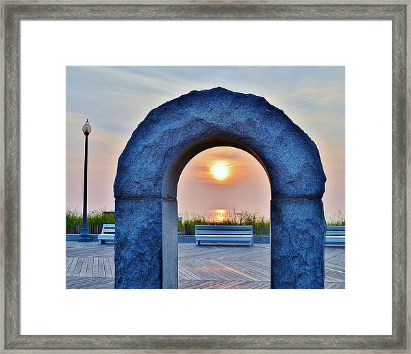 Sunrise Through The Arch - Rehoboth Beach Delaware Framed Print