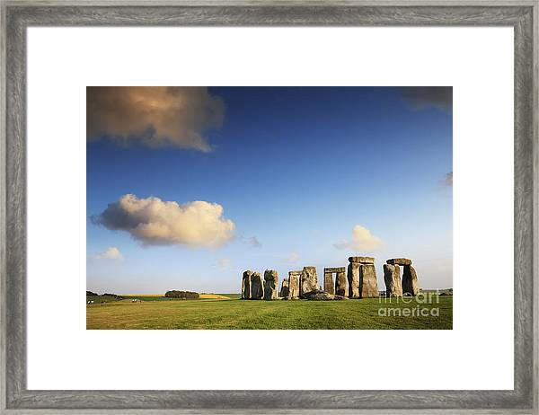 Stonehenge Summer Evening Framed Print