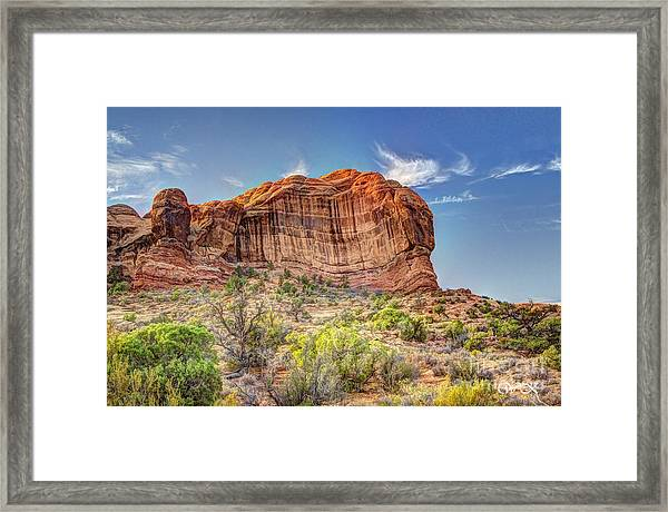Stones Of The West Framed Print