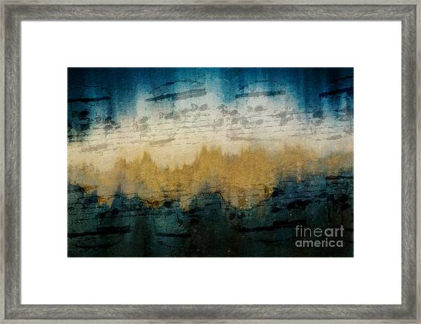 Stonewashed Blue Framed Print