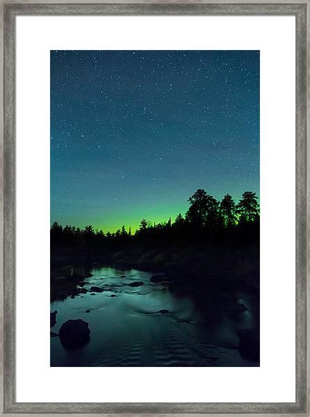 Stony River Stars Framed Print by Adam Pender