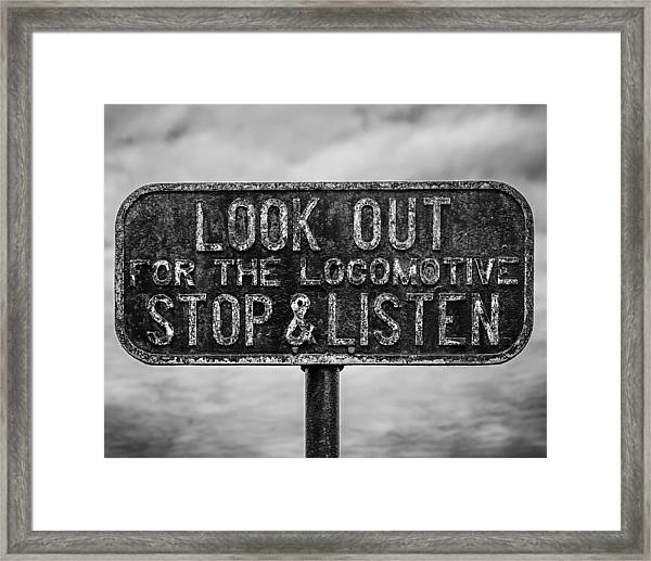 Stop And Listen Framed Print by Steve Stanger