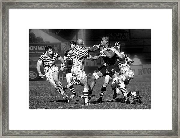Stop The Ball ... Framed Print