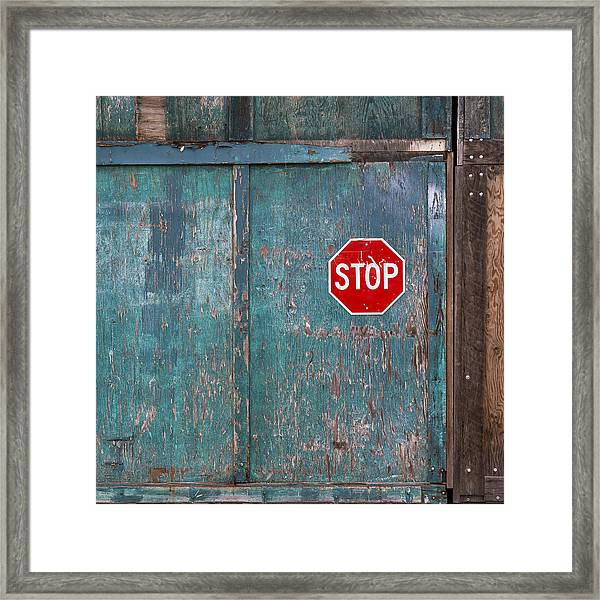 Stop Wasting My Precious Time Framed Print