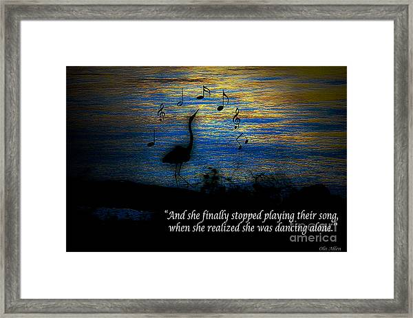 Stopped Playing Their Song Framed Print