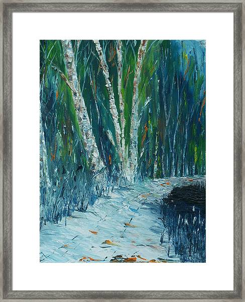 Stopping By Woods On A Snowy Evening Framed Print