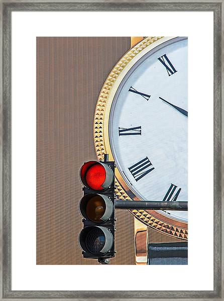 Stopping Time Framed Print