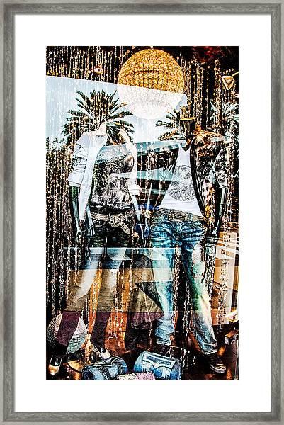 Store Window Display Framed Print