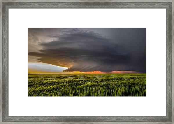 Storm At Sunset Framed Print