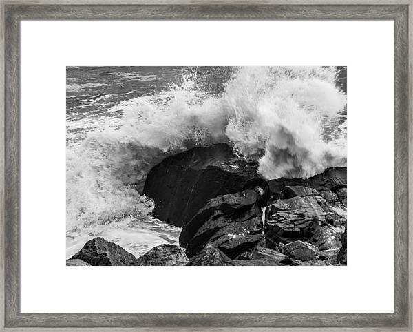 Storm Breaker Framed Print