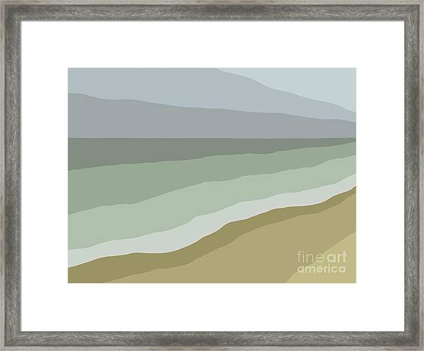 Storm Brewing Framed Print